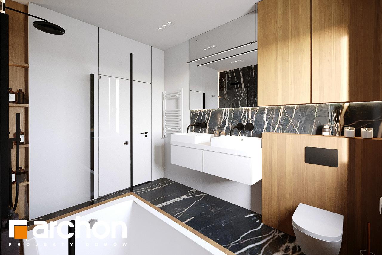 Проект будинку ARCHON+ Будинок у вівсянниці 9 (Е) візуалізація ванни (візуалізація 3 від 2)