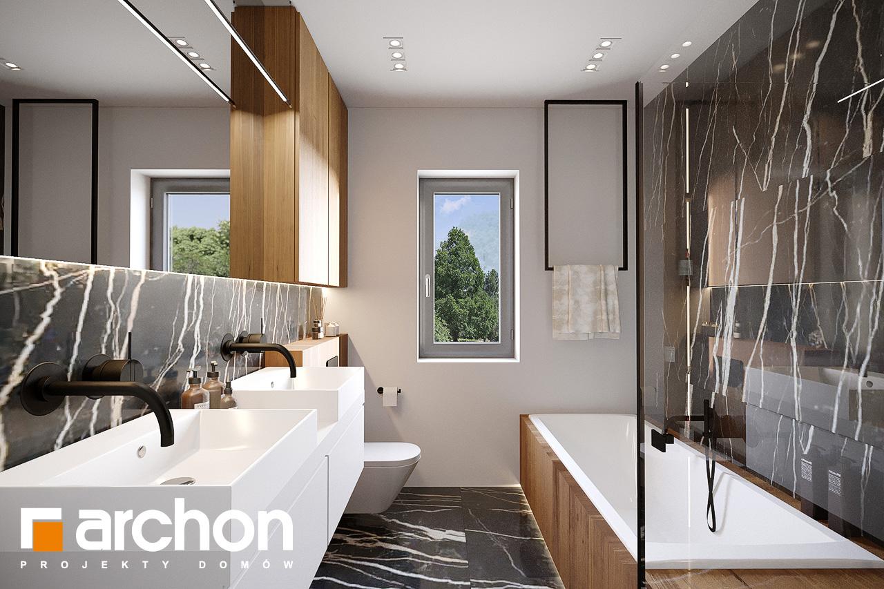 Проект будинку ARCHON+ Будинок у вівсянниці 9 (Е) візуалізація ванни (візуалізація 3 від 3)