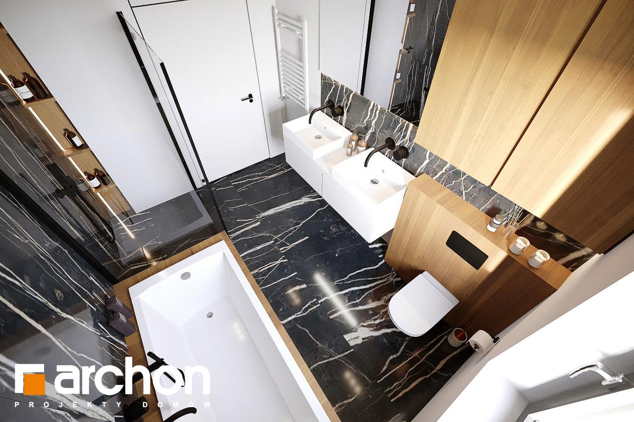 Проект будинку ARCHON+ Будинок у вівсянниці 9 (Е) візуалізація ванни (візуалізація 3 від 4)