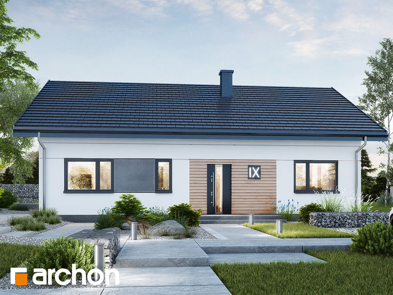 Проект будинку ARCHON+ Будинок у вівсянниці 9 (Е) Вид 1