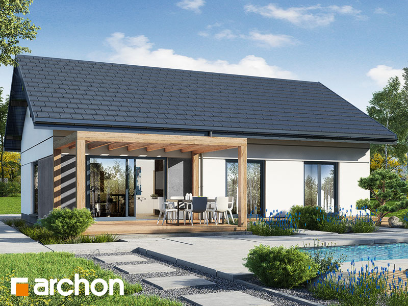 Проект будинку ARCHON+ Будинок у вівсянниці 9 (Е) Вид 2