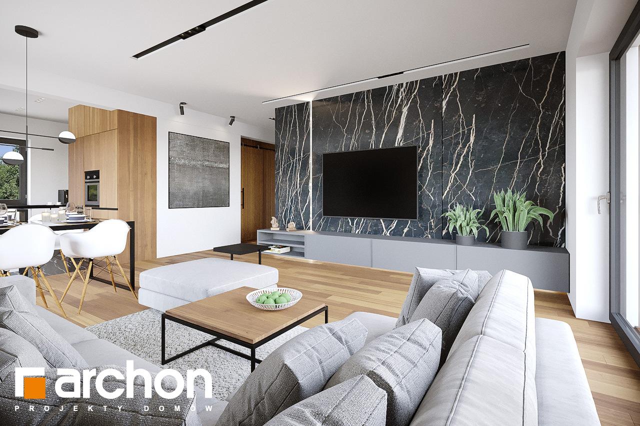 Проект будинку ARCHON+ Будинок у вівсянниці 9 (Е) денна зона (візуалізація 1 від 1)