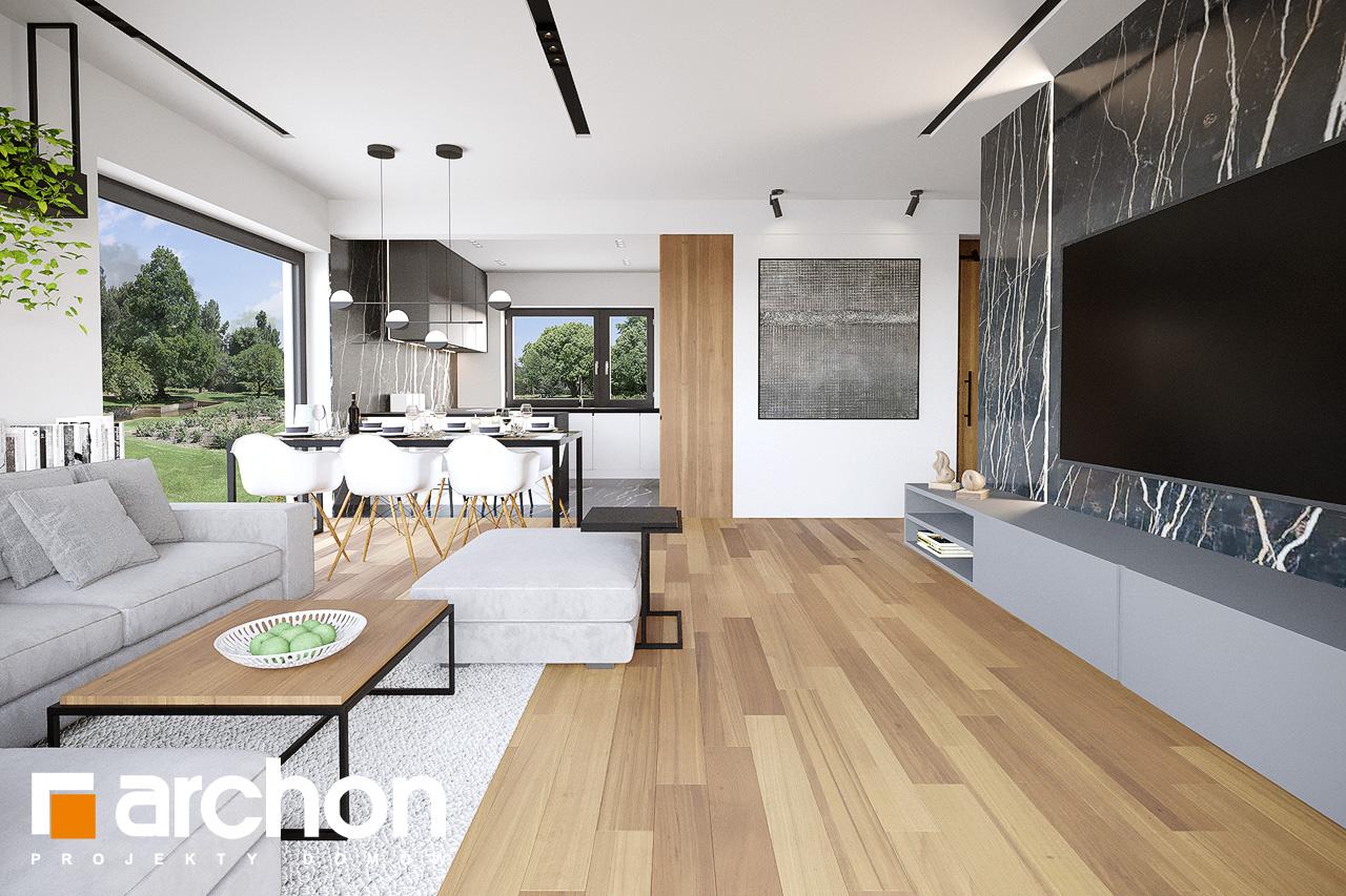 Проект будинку ARCHON+ Будинок у вівсянниці 9 (Е) денна зона (візуалізація 1 від 2)