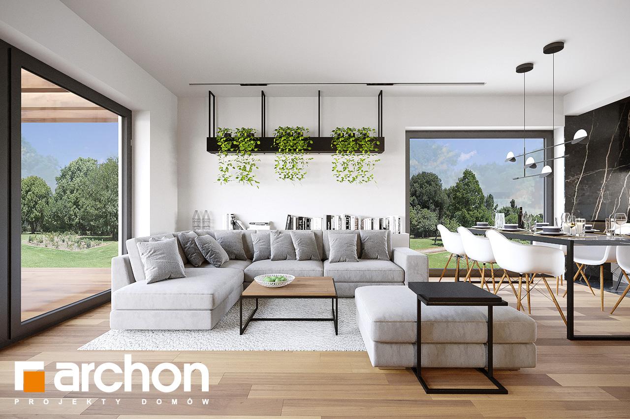 Проект будинку ARCHON+ Будинок у вівсянниці 9 (Е) денна зона (візуалізація 1 від 3)