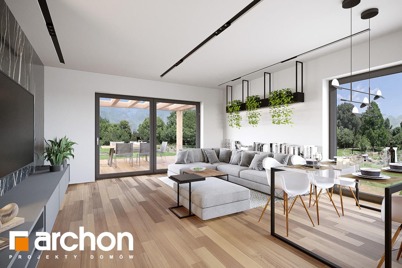 Проект будинку ARCHON+ Будинок у вівсянниці 9 (Е) денна зона (візуалізація 1 від 4)