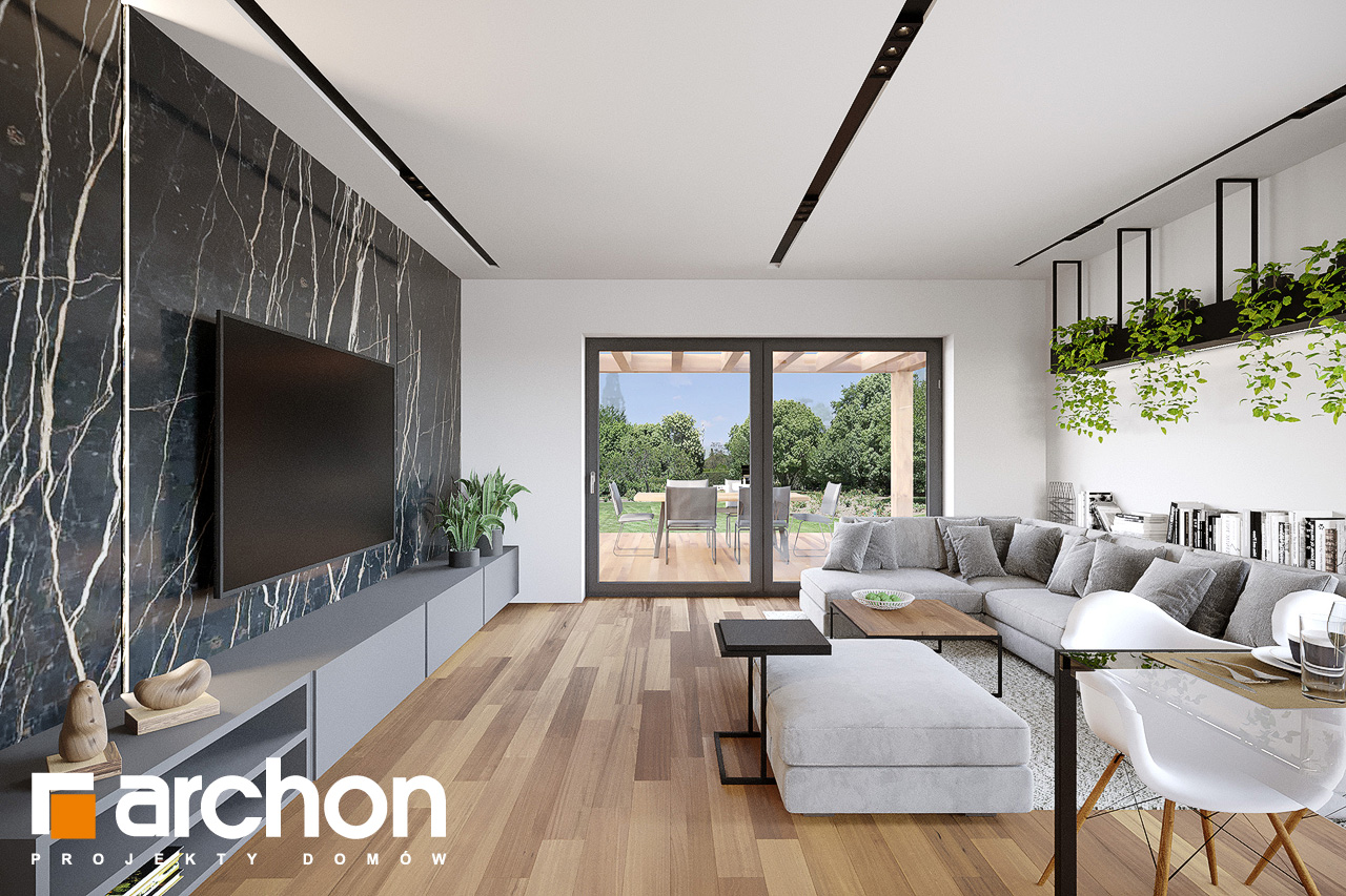Проект будинку ARCHON+ Будинок у вівсянниці 9 (Е) денна зона (візуалізація 1 від 6)