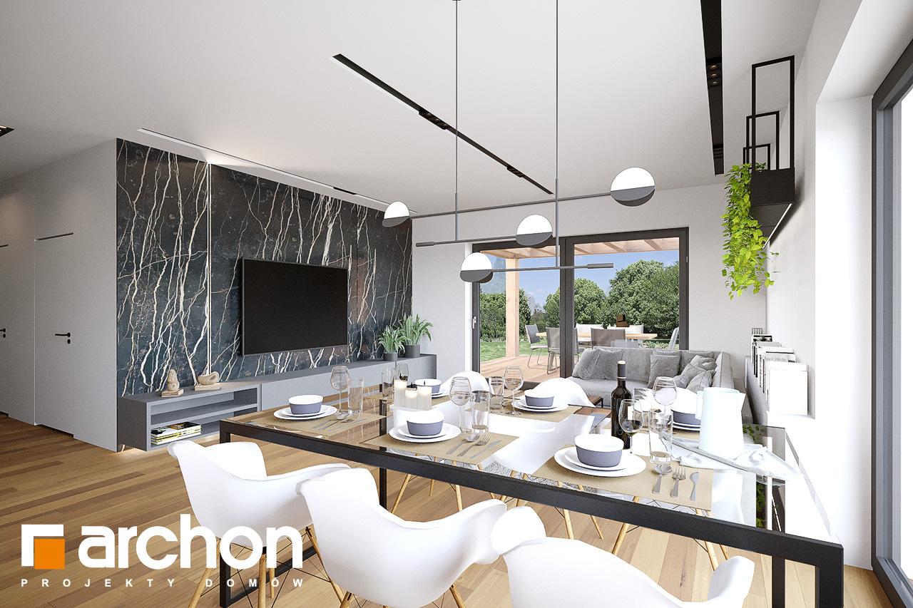 Проект будинку ARCHON+ Будинок у вівсянниці 9 (Е) денна зона (візуалізація 1 від 7)