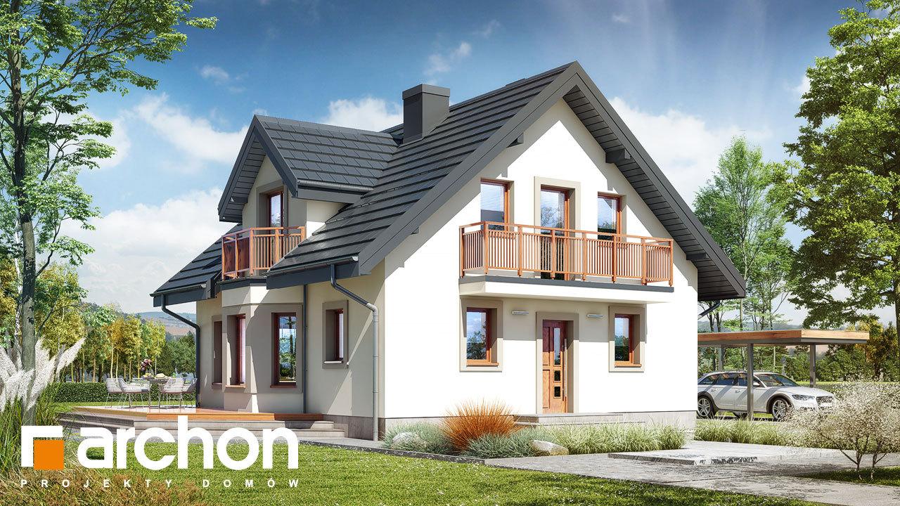 Проект будинку ARCHON+ Будинок в рододендронах 5 (В) ver.2