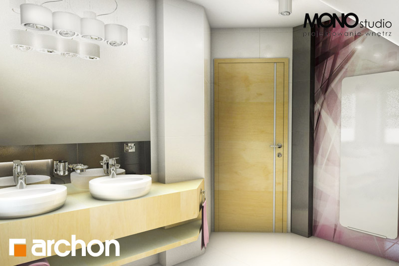Проект будинку ARCHON+ Будинок в рододендронах 5 (В) ver.2 візуалізація ванни (візуалізація 1 від 1)