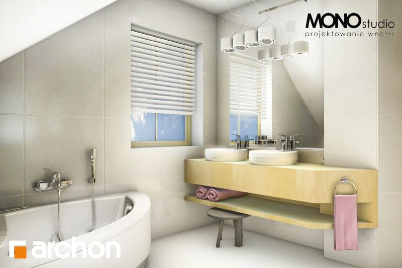 Проект будинку ARCHON+ Будинок в рододендронах 5 (В) ver.2 візуалізація ванни (візуалізація 1 від 2)