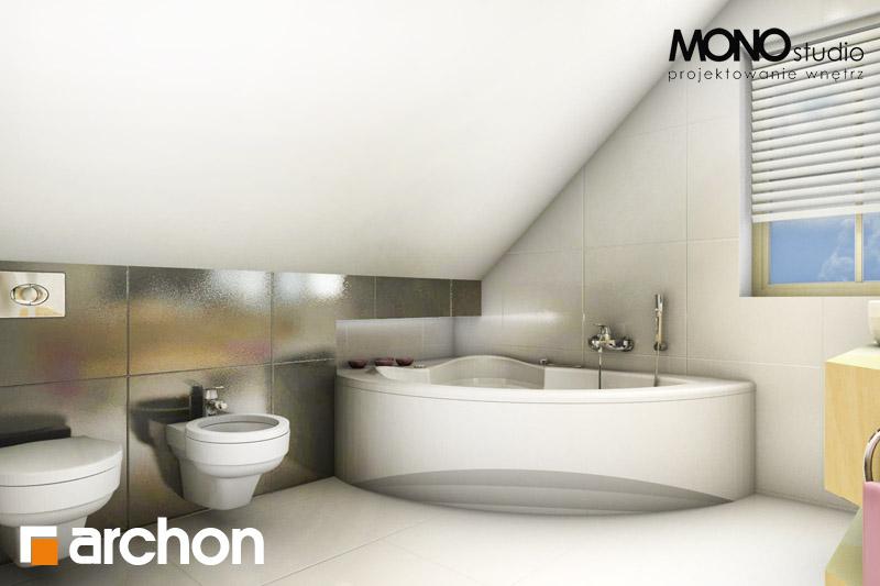 Проект будинку ARCHON+ Будинок в рододендронах 5 (В) ver.2 візуалізація ванни (візуалізація 1 від 3)
