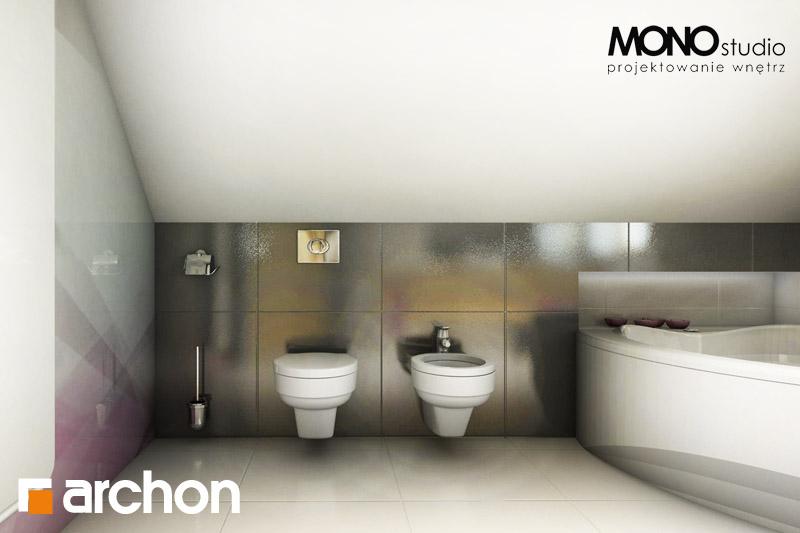 Проект будинку ARCHON+ Будинок в рододендронах 5 (В) ver.2 візуалізація ванни (візуалізація 1 від 4)