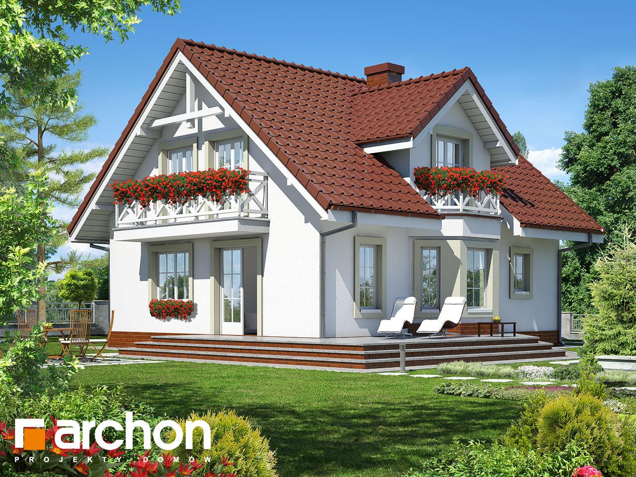 Проект будинку ARCHON+ Будинок в рододендронах 5 (В) ver.2 Вид 2