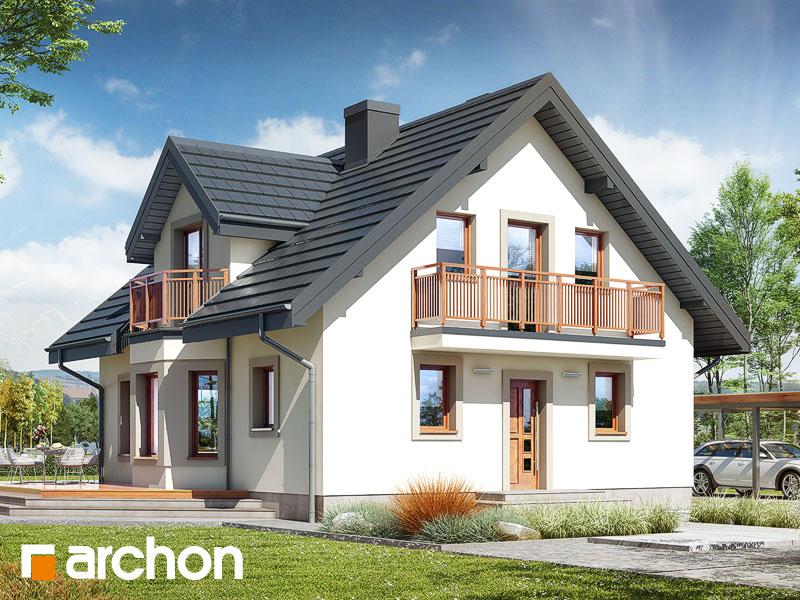 Проект будинку ARCHON+ Будинок в рододендронах 5 (В) ver.2 Вид 1