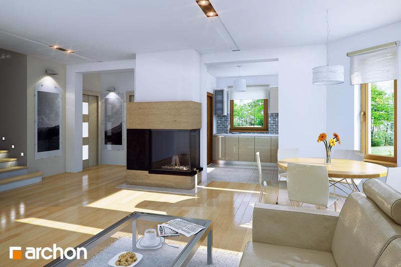 Проект будинку ARCHON+ Будинок в рододендронах 5 (В) ver.2 денна зона (візуалізація 1 від 1)