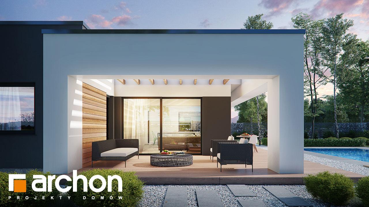 Проект будинку ARCHON+ Будинок в ренклодах 8 (Г2) додаткова візуалізація