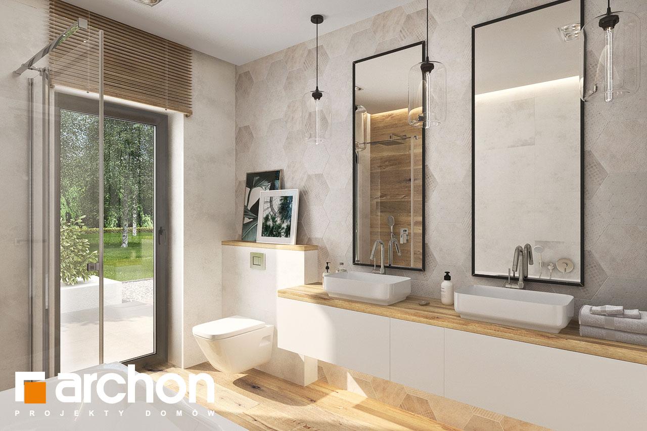 Проект будинку ARCHON+ Будинок у відличках 2 (Г2) візуалізація ванни (візуалізація 3 від 1)
