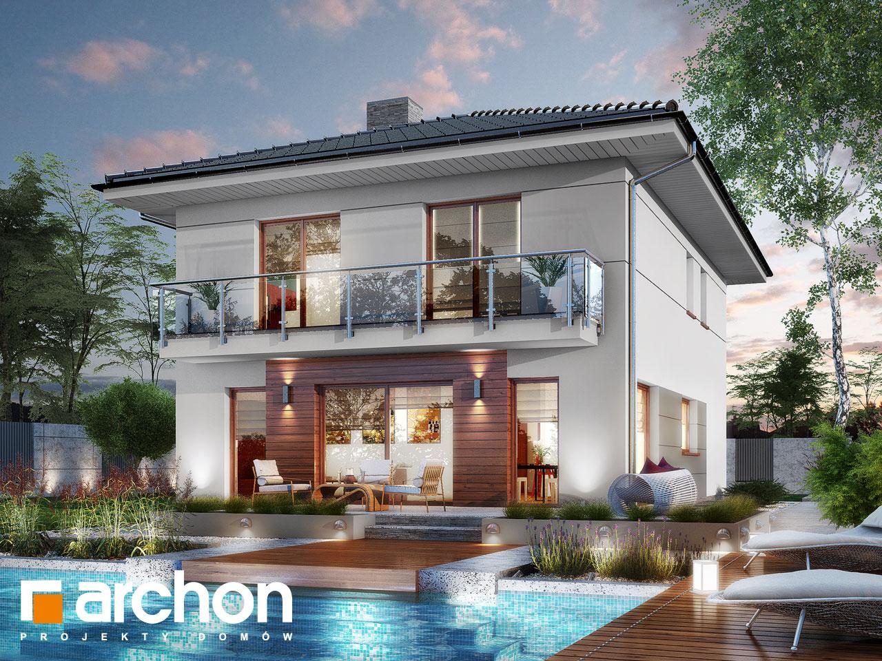 Проект будинку ARCHON+ Вілла Юлія 8 (П) Вид 2