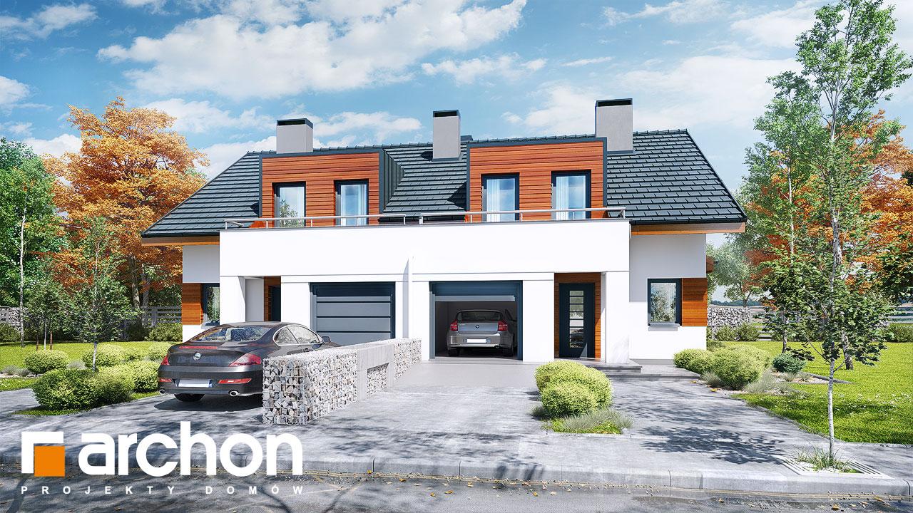 Проект будинку ARCHON+ Будинок у клематисах 8 ver.3 Вид 2
