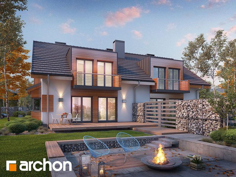Проект будинку ARCHON+ Будинок у клематисах 8 ver.3 Вид 1