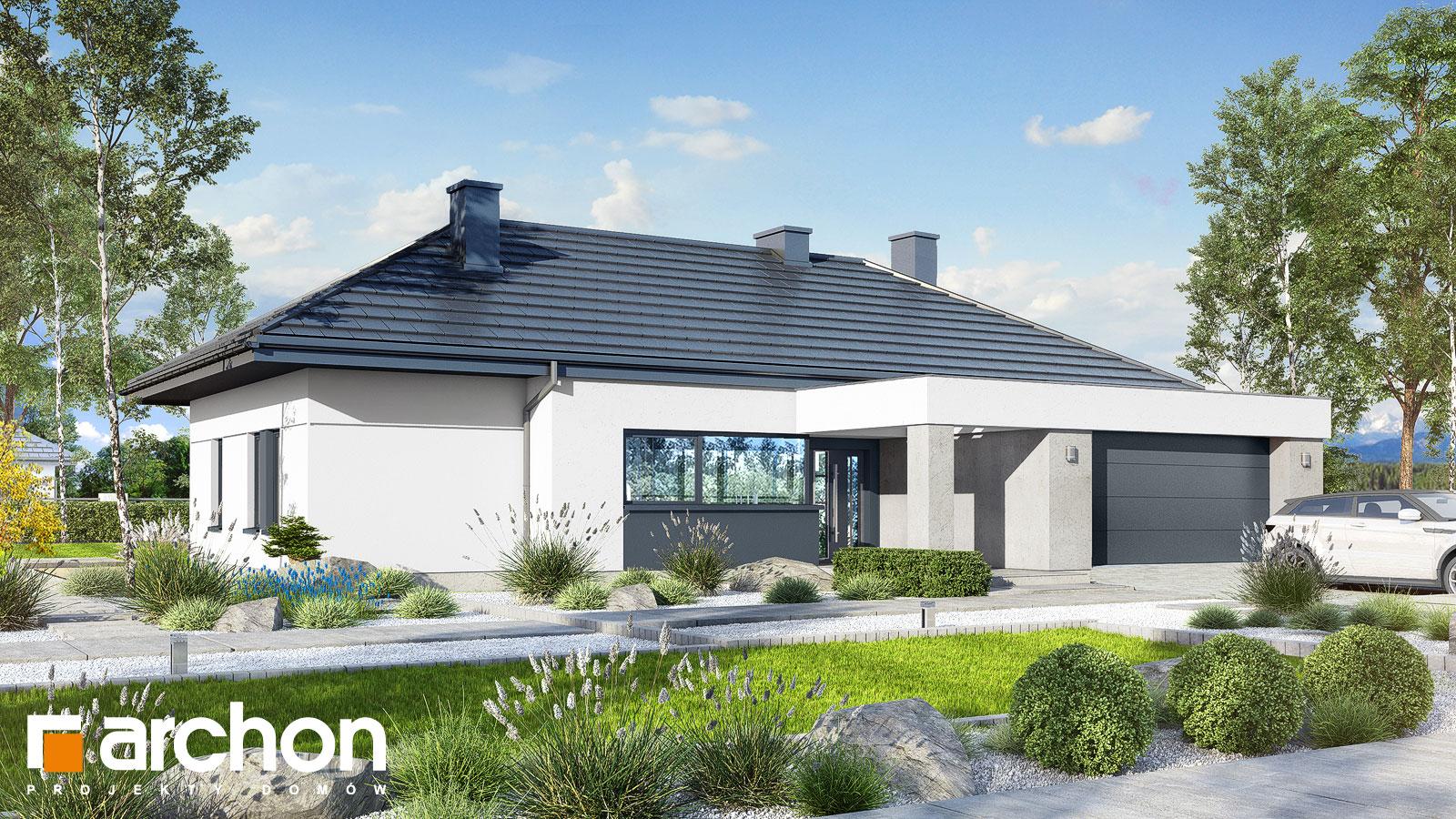 Проект дома ARCHON+ Дом в навлоциях 3 (Г2) додаткова візуалізація