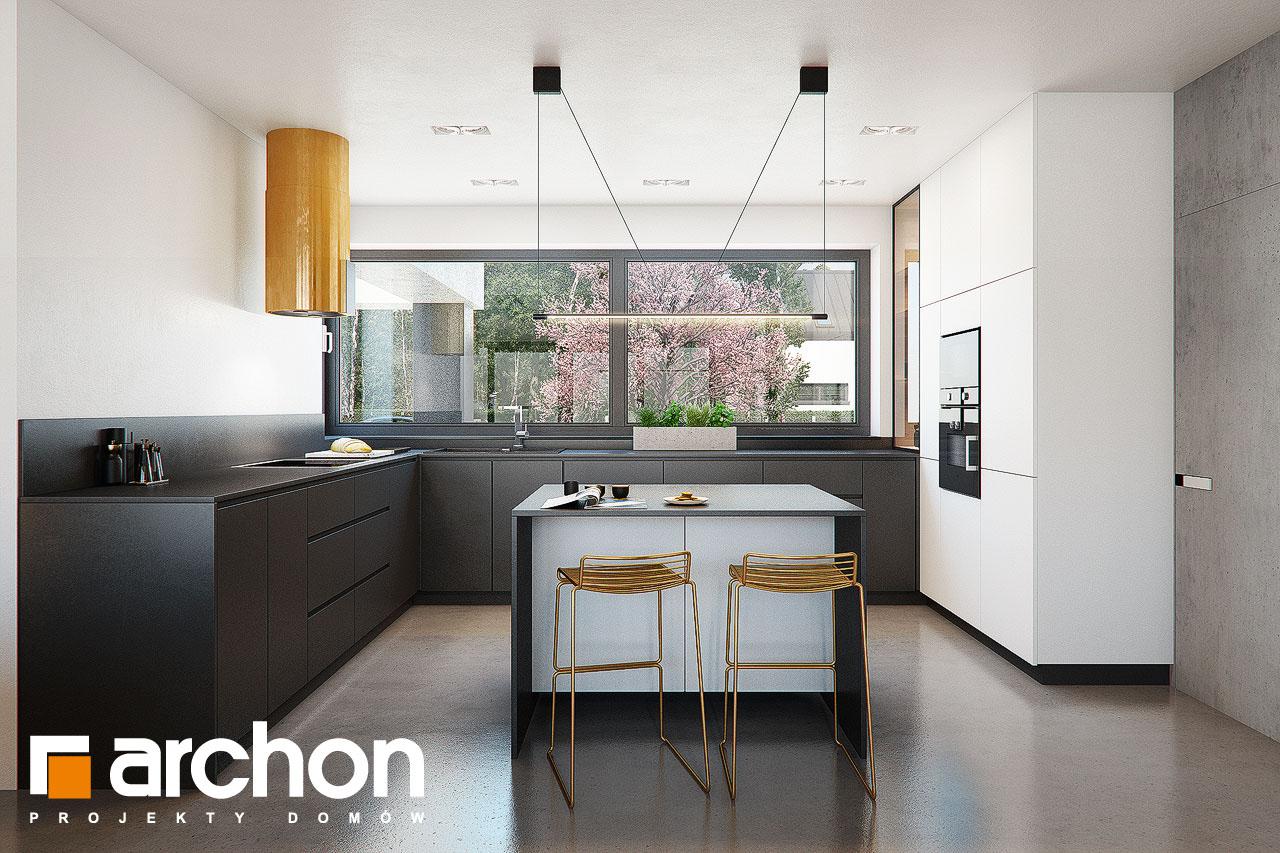 Проект дома ARCHON+ Дом в навлоциях 3 (Г2) визуализация кухни 1 вид 1