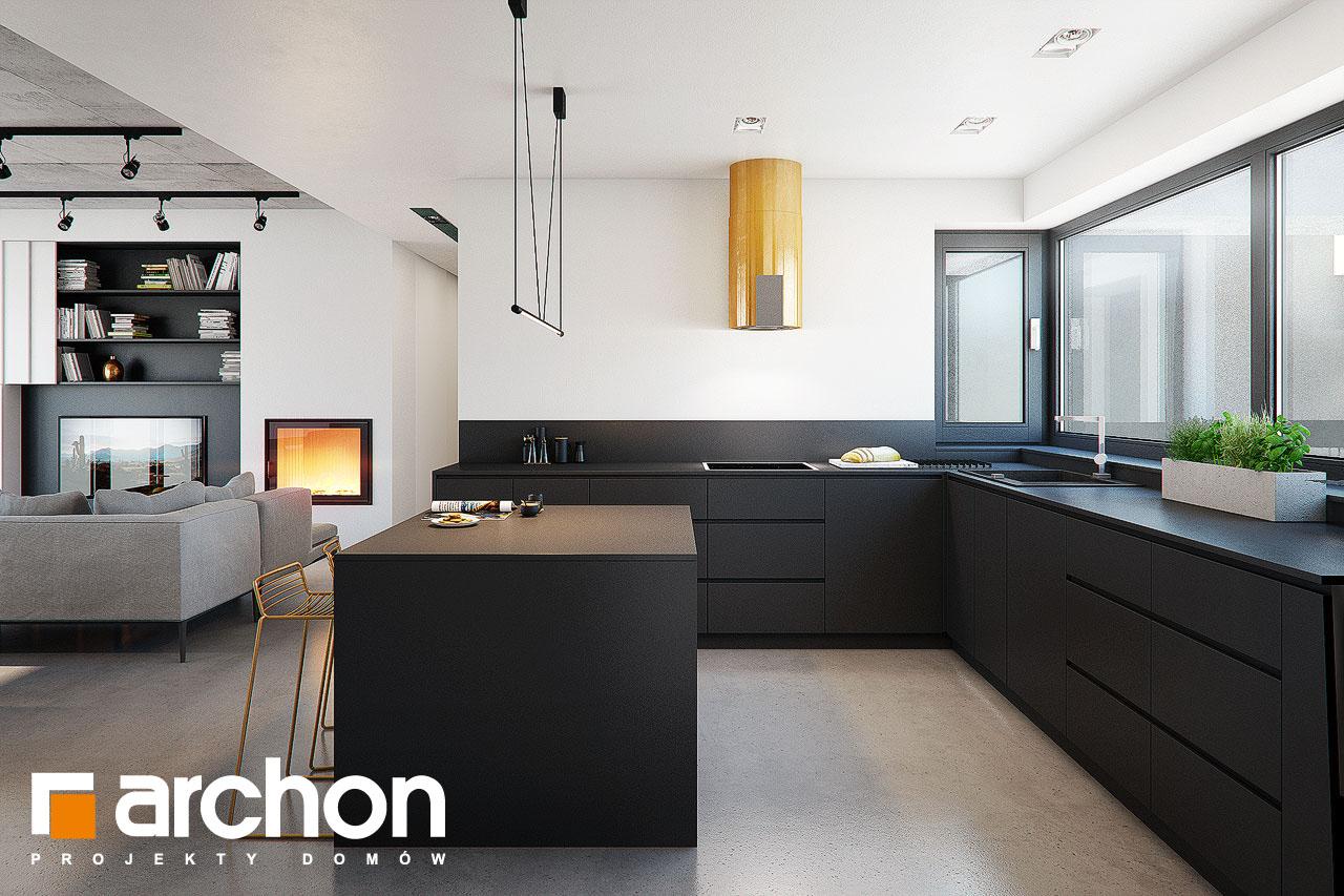Проект дома ARCHON+ Дом в навлоциях 3 (Г2) визуализация кухни 1 вид 2