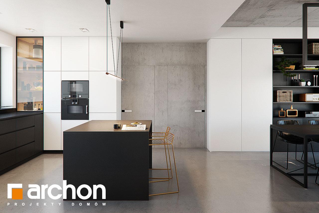 Проект дома ARCHON+ Дом в навлоциях 3 (Г2) визуализация кухни 1 вид 3