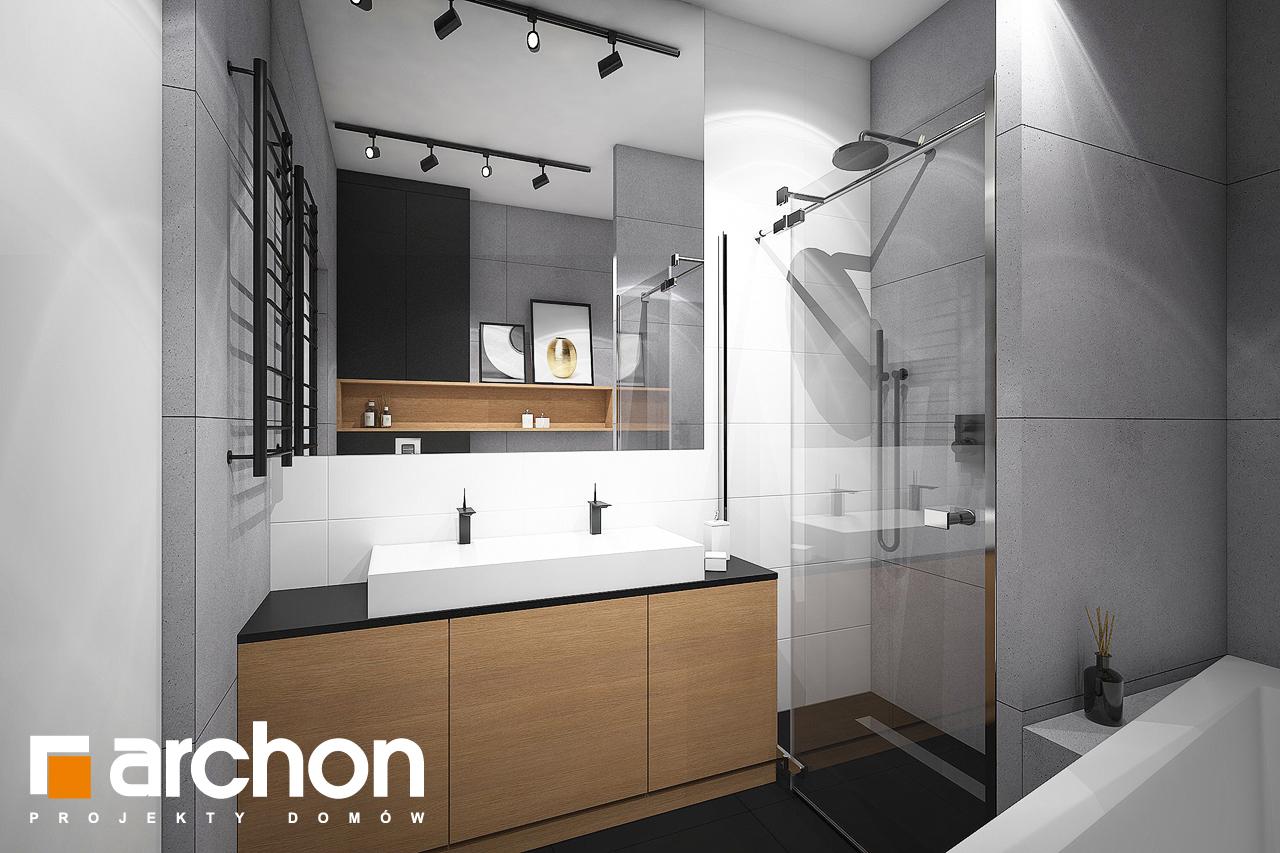 Проект дома ARCHON+ Дом в навлоциях 3 (Г2) визуализация ванной (визуализация 3 вид 1)