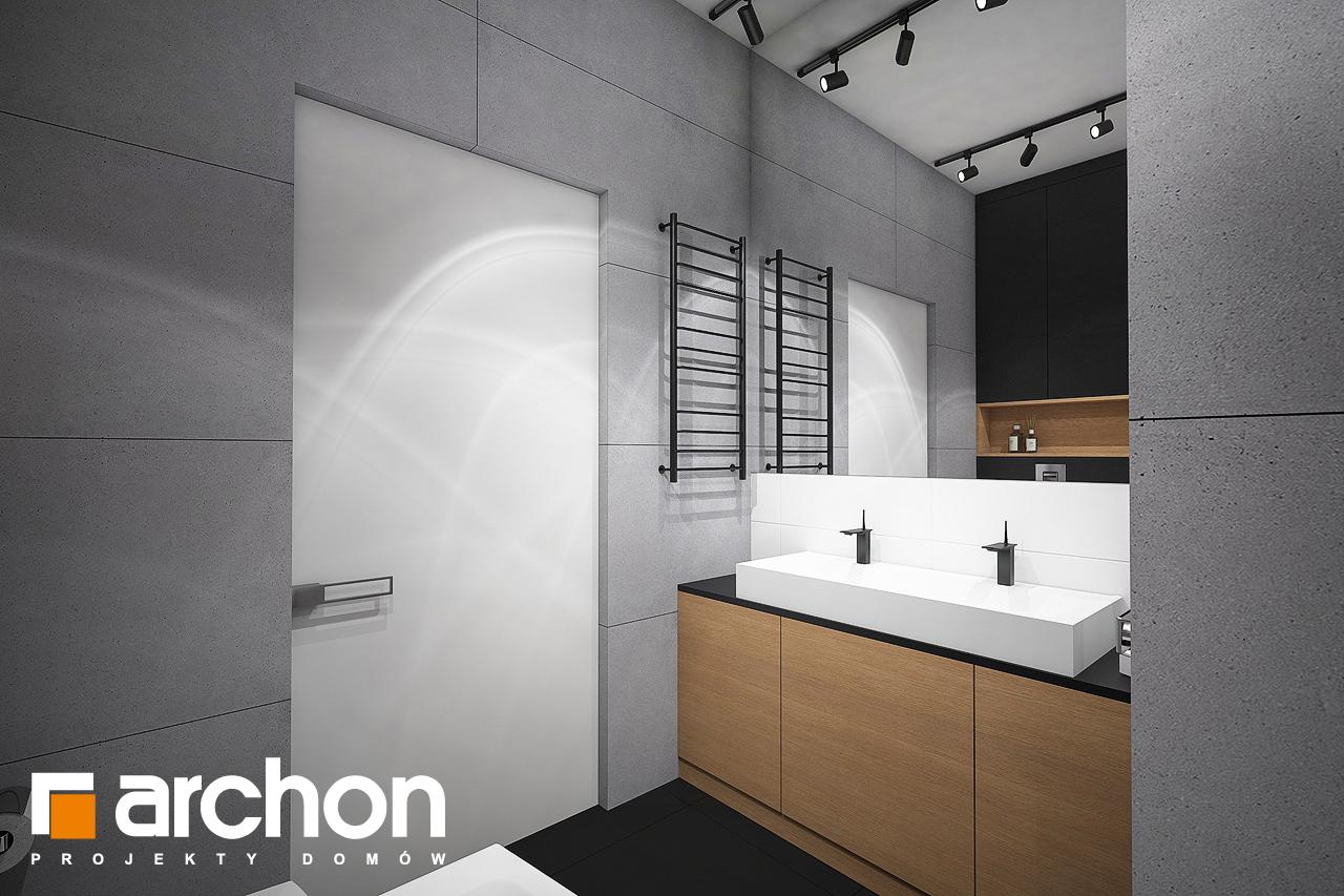 Проект дома ARCHON+ Дом в навлоциях 3 (Г2) визуализация ванной (визуализация 3 вид 3)