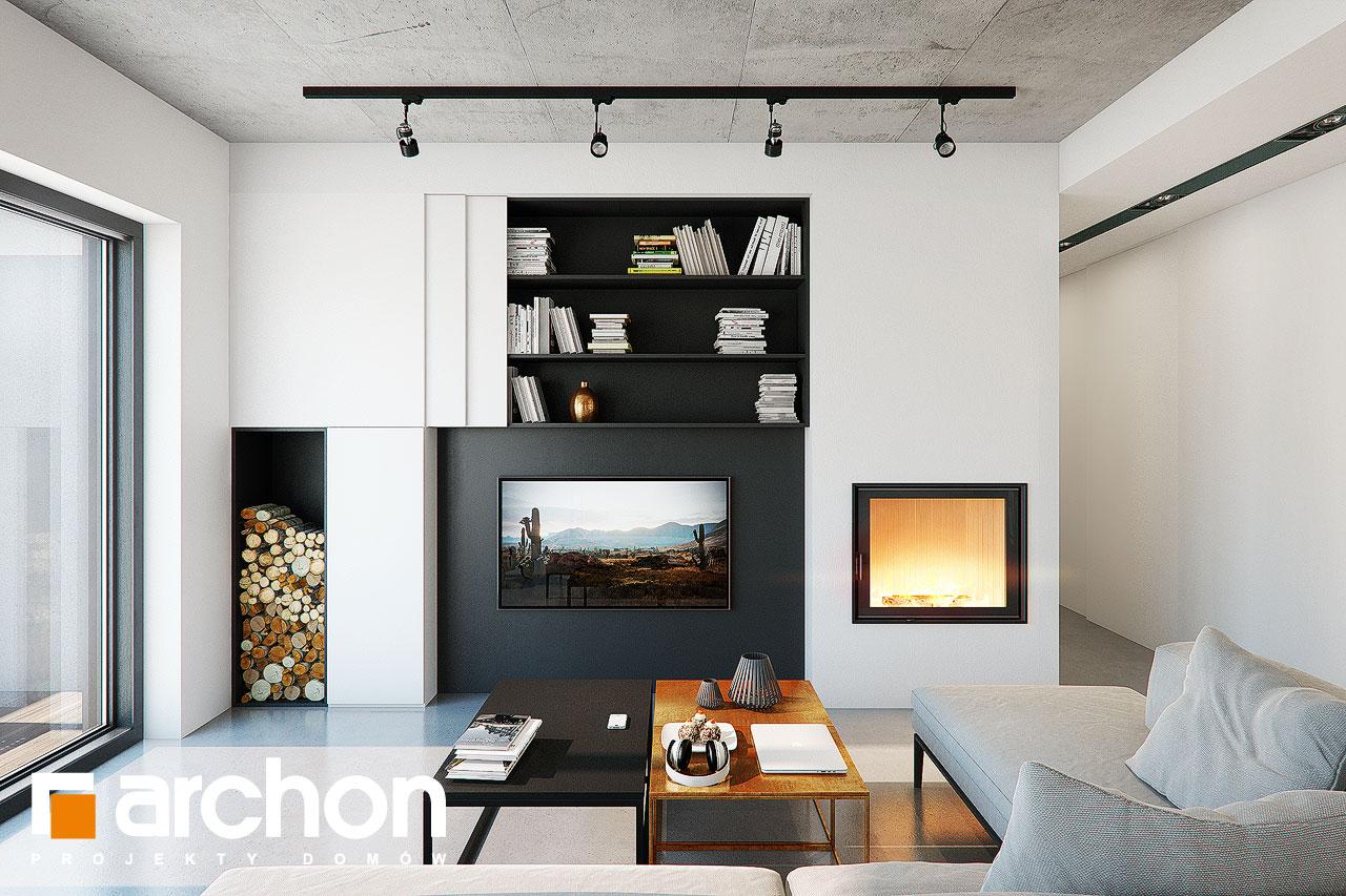 Проект дома ARCHON+ Дом в навлоциях 3 (Г2) дневная зона (визуализация 1 вид 1)
