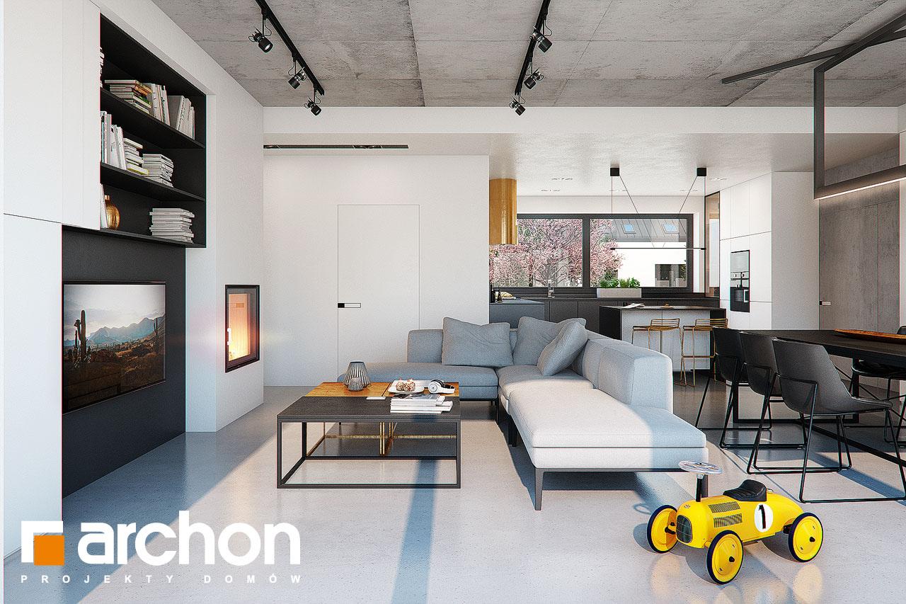 Проект дома ARCHON+ Дом в навлоциях 3 (Г2) дневная зона (визуализация 1 вид 3)