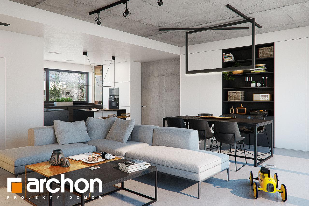 Проект дома ARCHON+ Дом в навлоциях 3 (Г2) дневная зона (визуализация 1 вид 4)