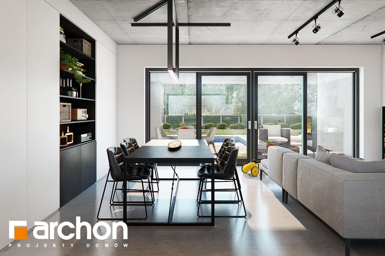 Проект дома ARCHON+ Дом в навлоциях 3 (Г2) дневная зона (визуализация 1 вид 6)