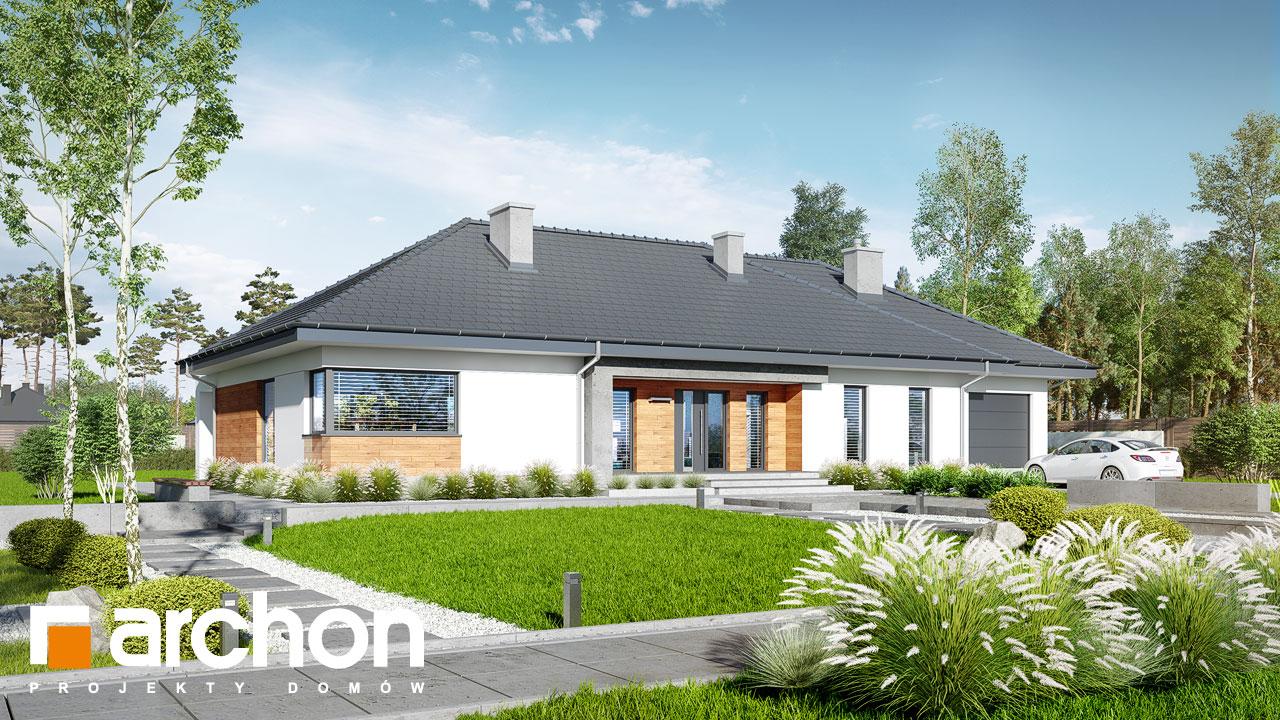 Проект будинку ARCHON+ Будинок в колосках (Г) Вид 2