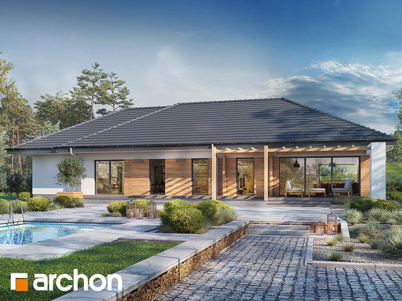 Проект будинку ARCHON+ Будинок в колосках (Г) Вид 1
