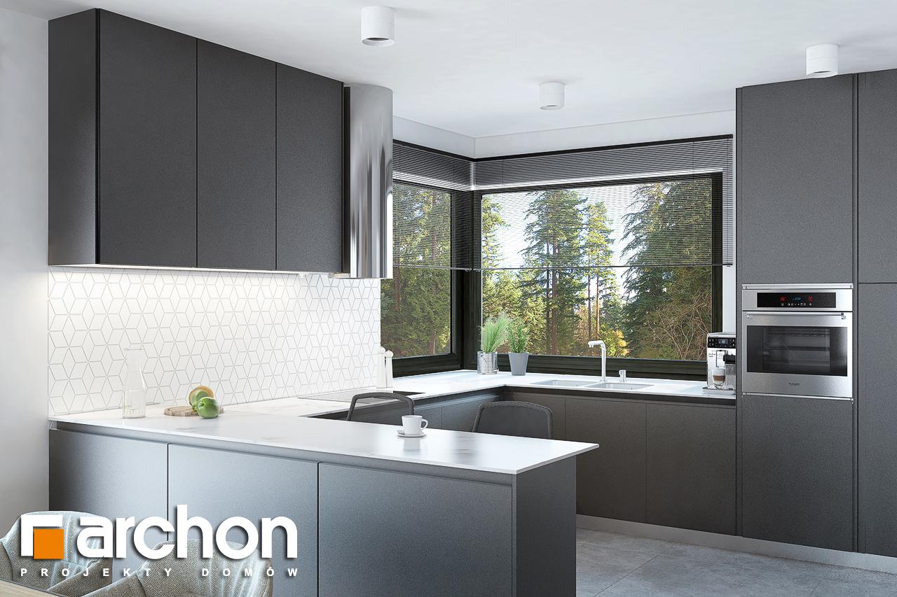 Проект будинку ARCHON+ Будинок в нарцисах (Г2) візуалізація кухні 1 від 1