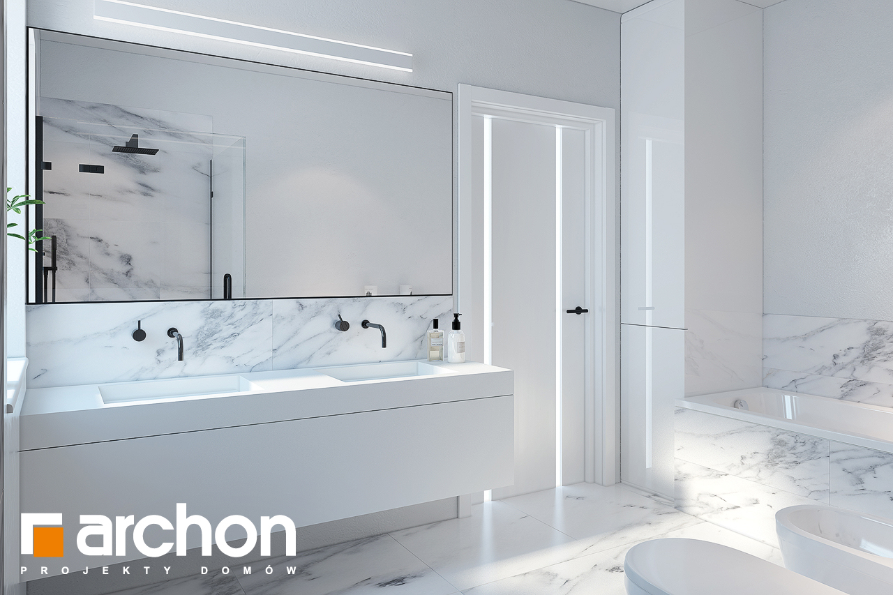 Проект будинку ARCHON+ Будинок в нарцисах (Г2) візуалізація ванни (візуалізація 3 від 2)
