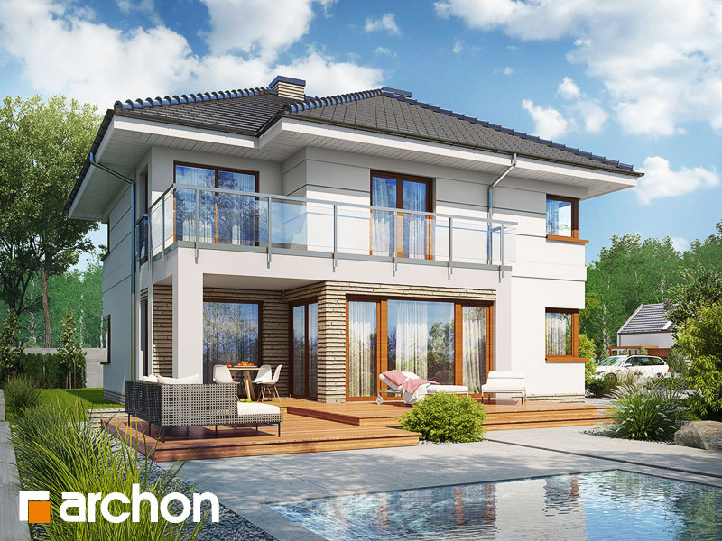 Проект будинку ARCHON+ Вілла Еліза 4 (Г2) Вид 1