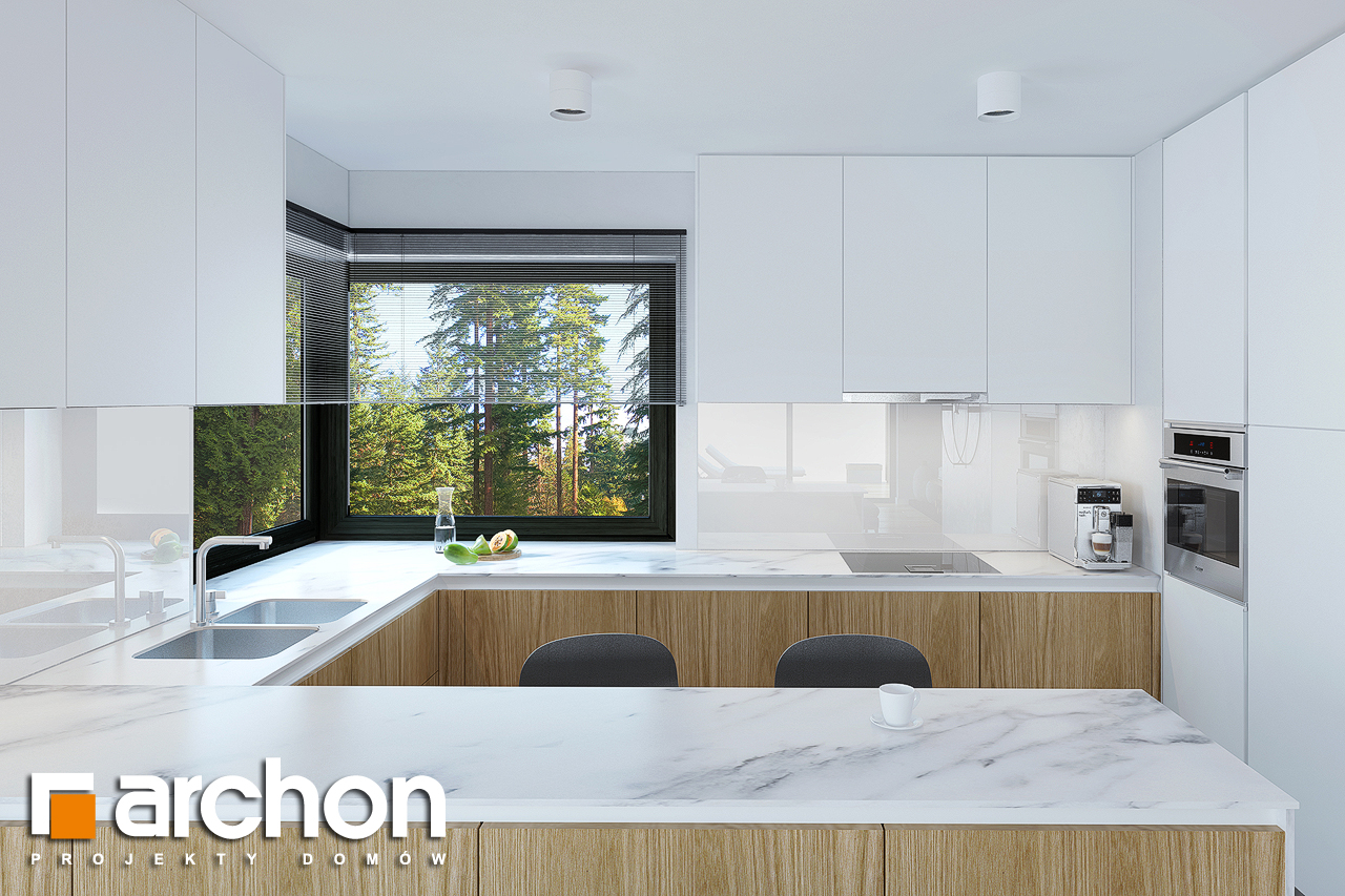 Проект будинку ARCHON+ Будинок під горобиною 8 (ГН)  візуалізація кухні 1 від 2