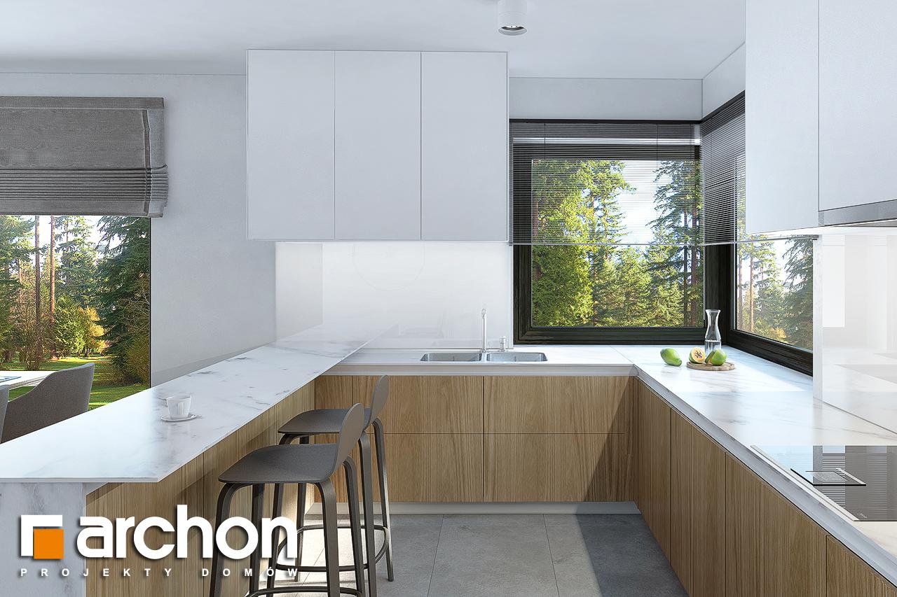 Проект будинку ARCHON+ Будинок під горобиною 8 (ГН)  візуалізація кухні 1 від 3
