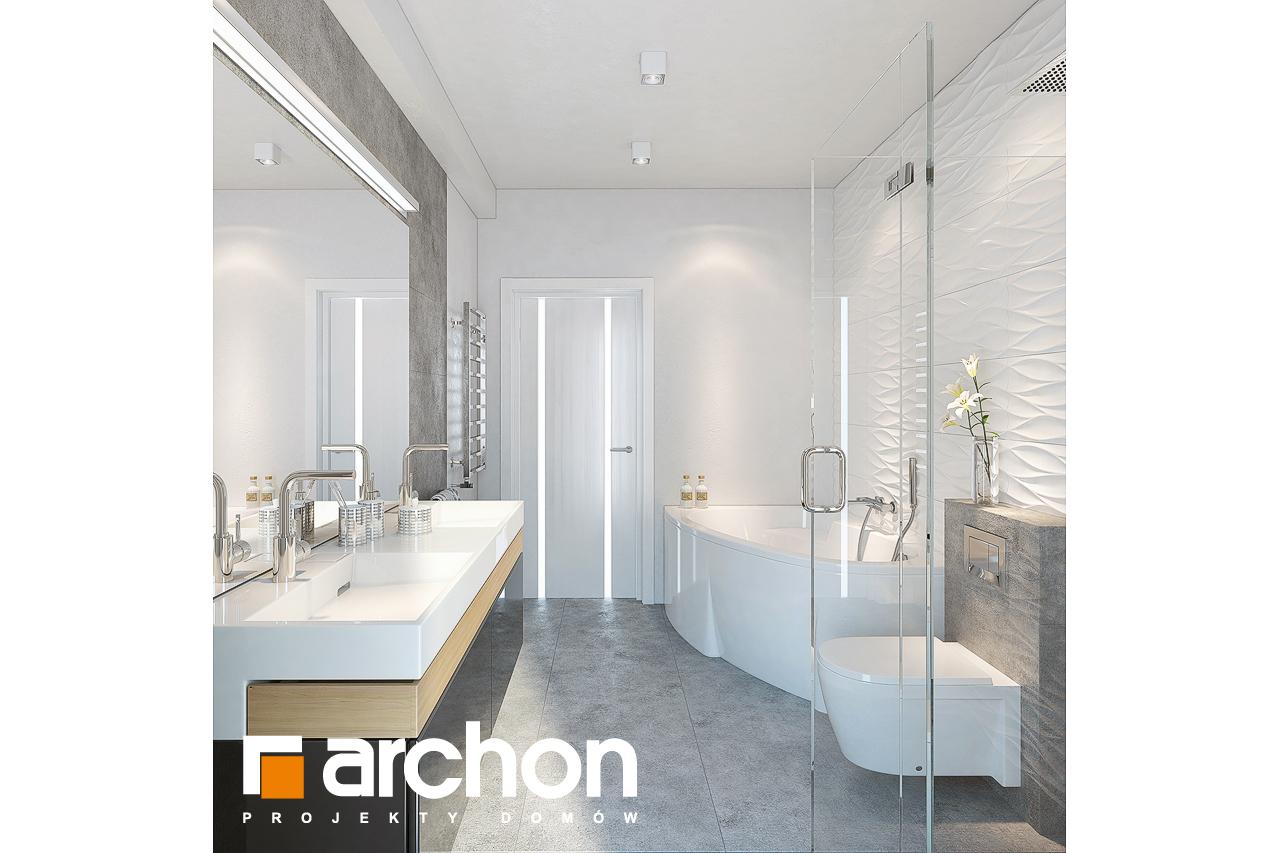 Проект будинку ARCHON+ Будинок під горобиною 8 (ГН)  візуалізація ванни (візуалізація 3 від 1)
