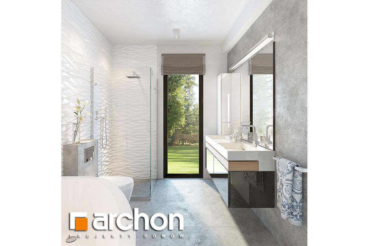 Проект будинку ARCHON+ Будинок під горобиною 8 (ГН)  візуалізація ванни (візуалізація 3 від 2)