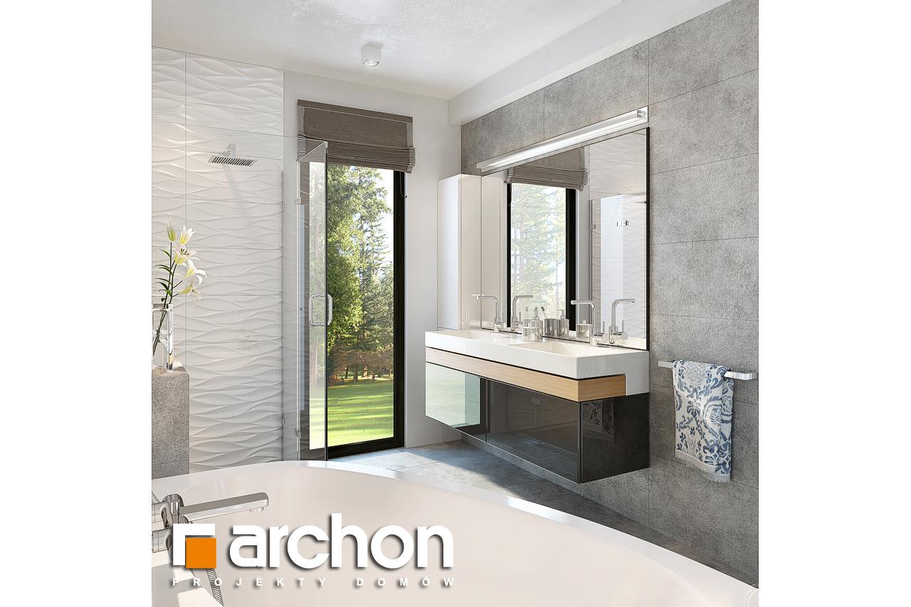 Проект будинку ARCHON+ Будинок під горобиною 8 (ГН)  візуалізація ванни (візуалізація 3 від 3)