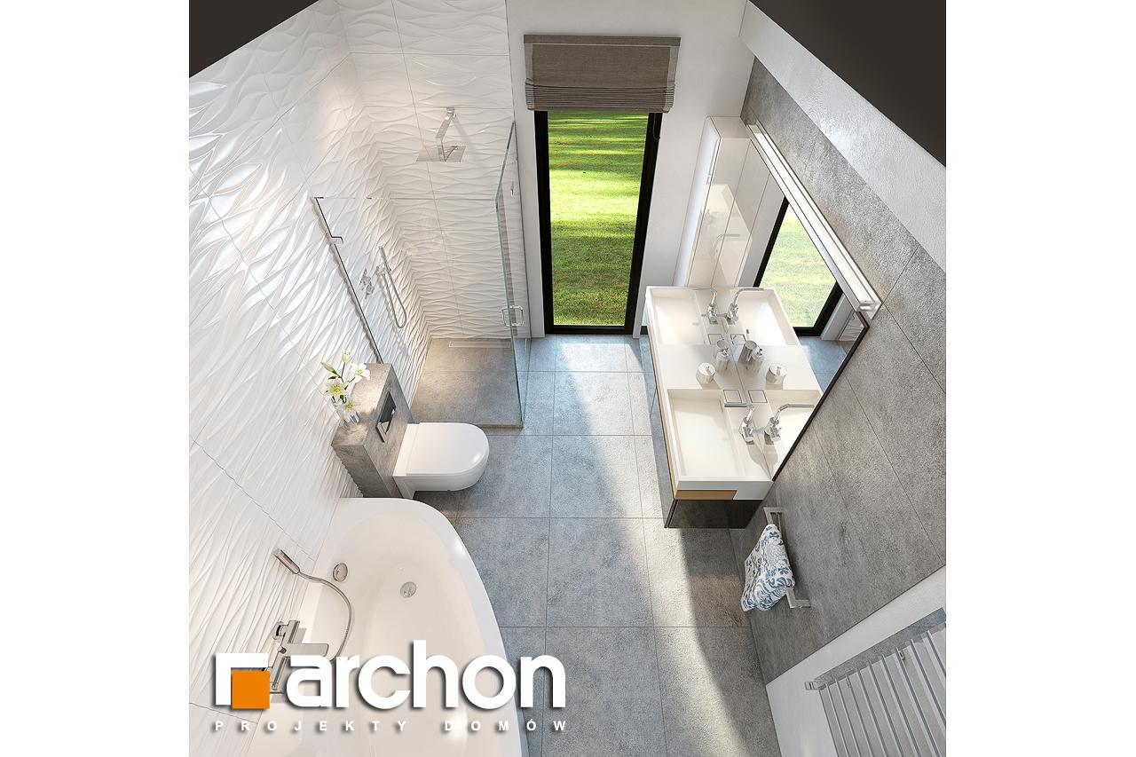 Проект будинку ARCHON+ Будинок під горобиною 8 (ГН)  візуалізація ванни (візуалізація 3 від 4)