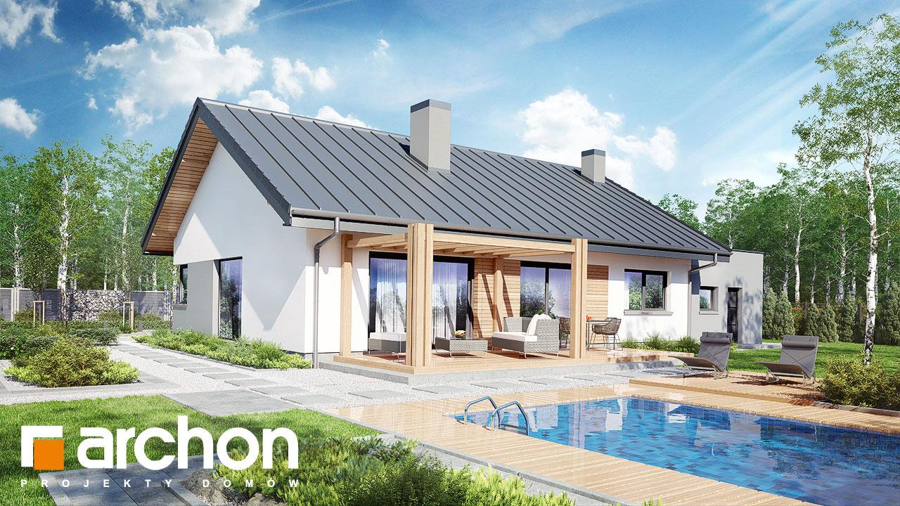 Проект будинку ARCHON+ Будинок під горобиною 8 (ГН)  Вид 2