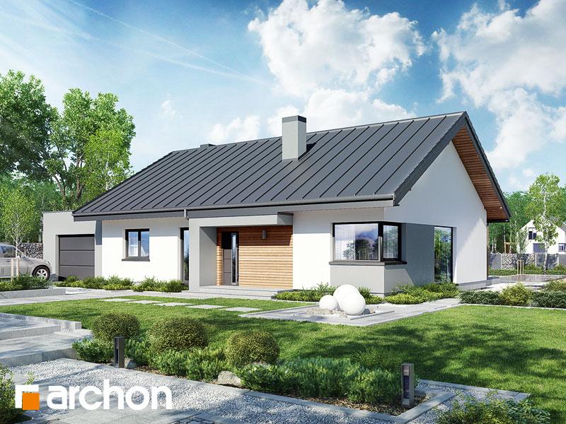 Проект будинку ARCHON+ Будинок під горобиною 8 (ГН)  Вид 1