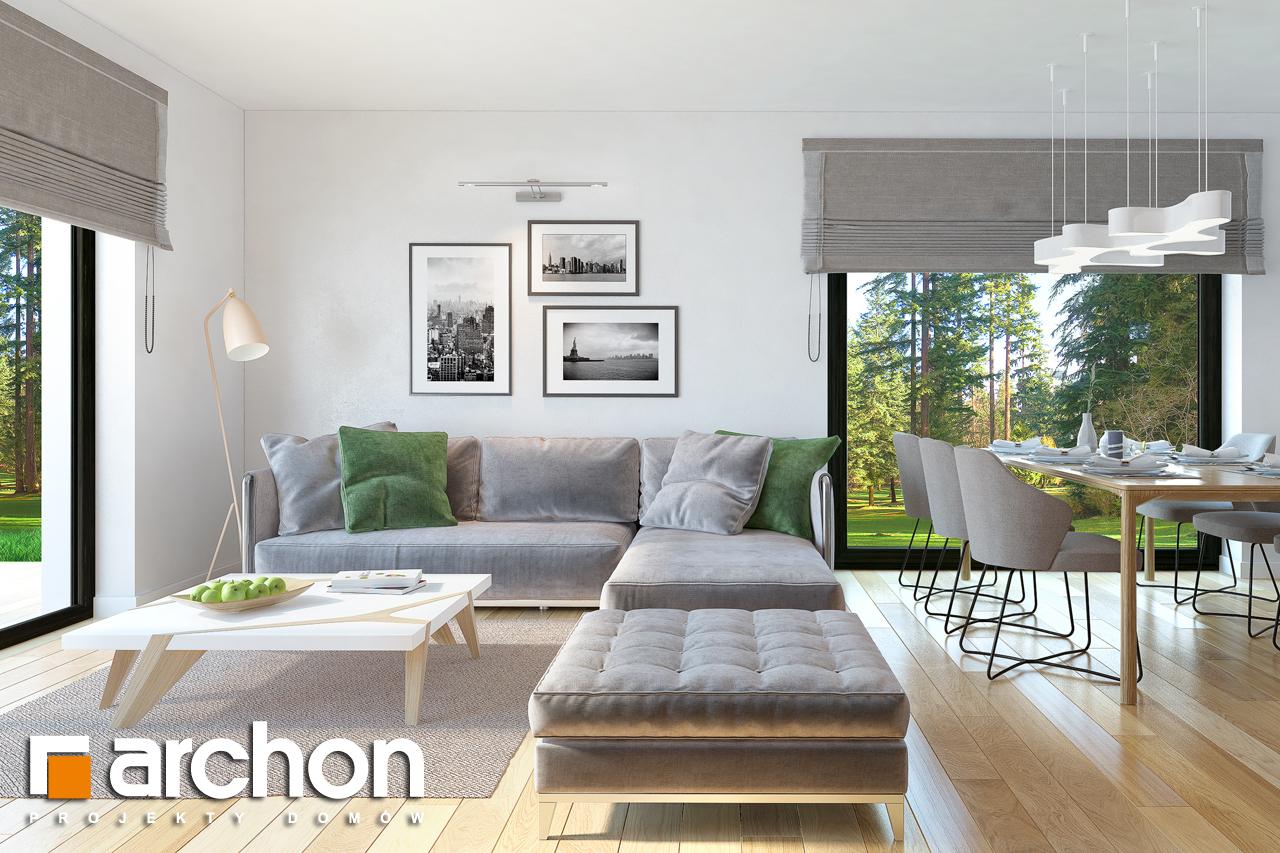 Проект будинку ARCHON+ Будинок під горобиною 8 (ГН)  денна зона (візуалізація 1 від 1)