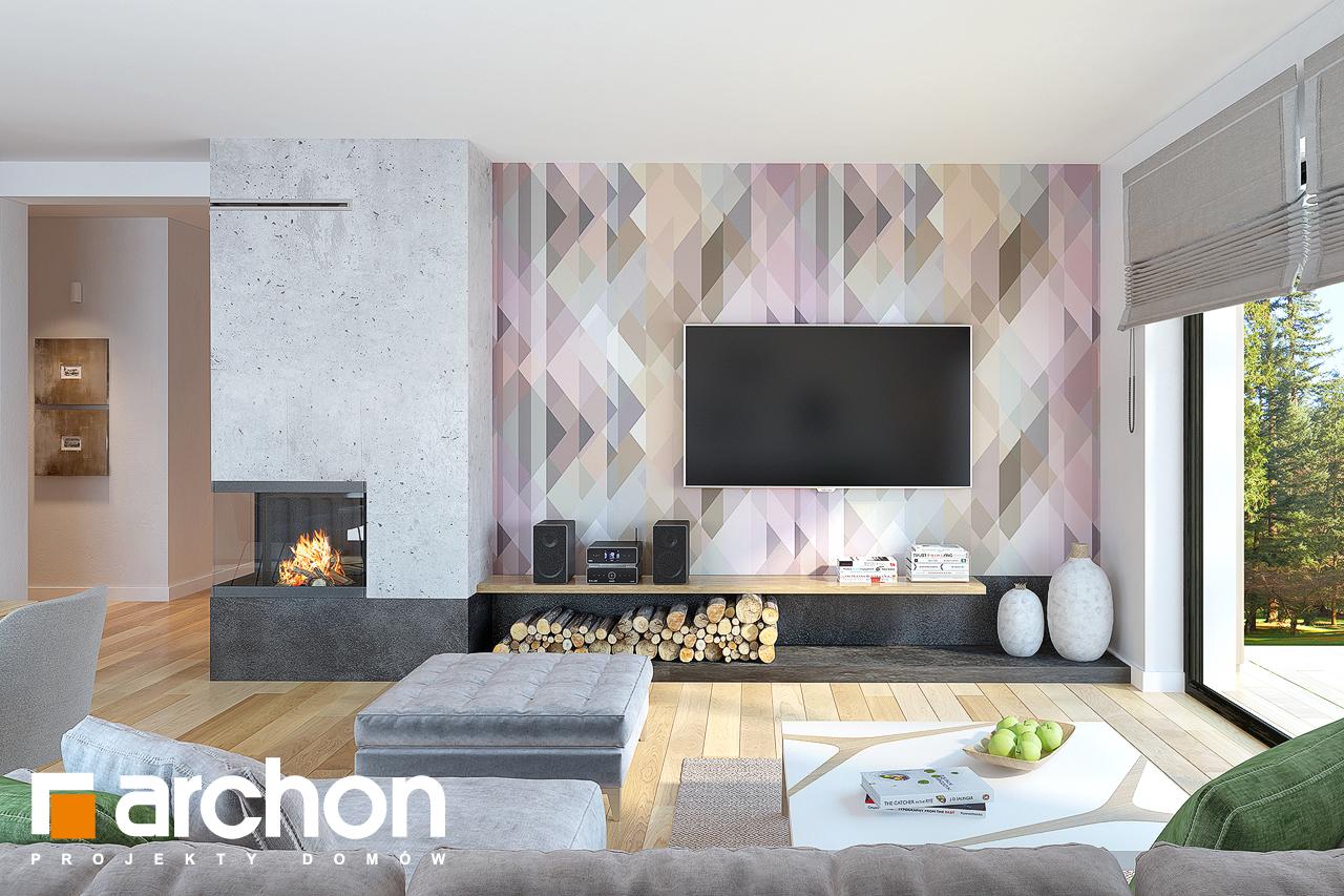 Проект будинку ARCHON+ Будинок під горобиною 8 (ГН)  денна зона (візуалізація 1 від 2)