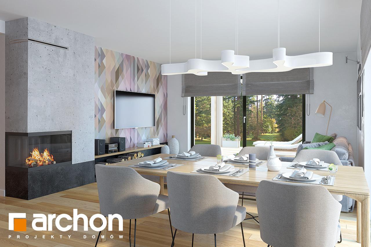 Проект будинку ARCHON+ Будинок під горобиною 8 (ГН)  денна зона (візуалізація 1 від 3)